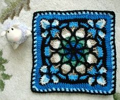 Stained Glass Afghan Square | stained glass crochet square