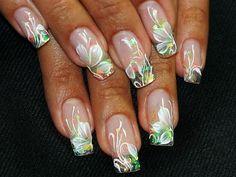 Wedding Nail Art Sweet Flowers