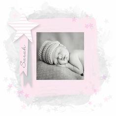 Geboortekaartjes - Lief geboortekaartje met foto vm03