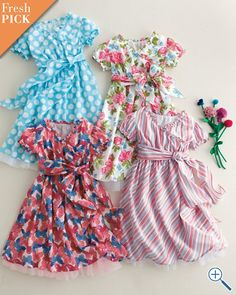 More Easter dress possibilities. Garnet Hill has such cute things.