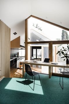A Cool Melbourne Cottage Riffs Off of its Victorian Neighbors - Dwell #melbourne #cottage #office