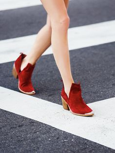b843cf9e64 Jeffrey Campbell Hunt The Plains Boot at Free People Clothing Boutique Red  Ankle Boots, Shoe