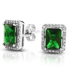May Birthstone Jewelry Cz Emerald Rings Necklaces