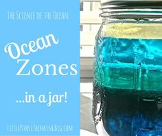 Ocean Layers in a Jar LittlePeopleThinkingBIG.com In this activity, we use the differing density of various liquids to create a model of ocean zones. This is specially great for kinesthetic and visual learners. Plus, it's lots of fun! (and a little messy, too!)