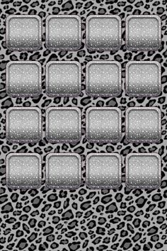 Black and Grey Cheetah Print Background with Sparkly Silver App Backdrop and Outline
