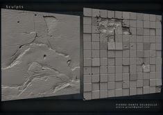 Tilable textures for Game's Environment All Sculpted from scratch on Zbrush Zbrush Environment, Environment Concept, 3d Texture, Stone Texture, Zbrush Character, Material Research, Game Textures, Elements Of Design, Light Reflection