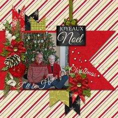 Christmas Themed Scrapbook Layouts   12X12 layouts   Scrapbooking Ideas   Creative Scrapbooker Magazine #christmas #scrapbooking #12X12layout