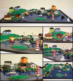 Maritime Fishing Village #LEGO #microscale #village #maritime