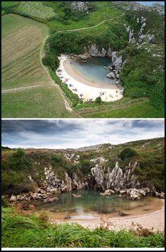 Monumento Natural, Playa de Gulpiyur, en Navesi. #Llanes #playa #Asturias