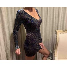 Velvet mini dress Free People Silver size M International in Velvet - 10339210 Velvet Color, Free People Dress, Beautiful Patterns, Purple And Black, Designer Dresses, Dress Outfits, Cover Up, Bodycon Dress, Clothes For Women