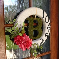Initial and House Number Wreath. This took about three hours to make. Pretty cute, if I do say so myself.