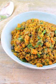 Slow Cooker Lentils (vegan)