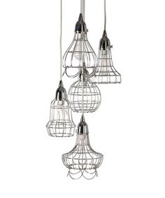 Loving this Silver Five-Bulb Pendant Light on #zulily! #zulilyfinds