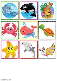 Znaczki przedszkolne – Podwodny świat Classification, Teaching Kids, Clip Art, Kids Rugs, Memories, School, Word Bingo, Early Education, Games