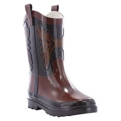 Western Chief Toddler Boys' Western CowBoys' Rain Boots - Brown 5, Toddler Boy's