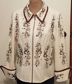 Western Show Jacket Women's Sparkling Horse Riding One of a Kind by AntoinetteExclusives on Etsy Show Jackets, Shark Tank, Handmade Design, Horse Riding, Westerns, My Design, Jackets For Women, Etsy Seller, Sparkle