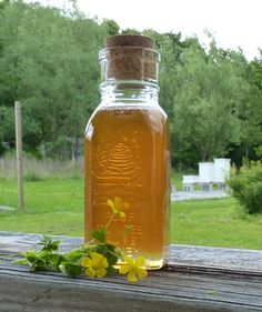 This decorative 4oz antique style jar with a cork is filled with raw unfiltered honey from my own organically managed honey bee hives. This is a