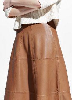 PREMIUM - Leather A-line skirt