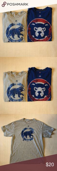 Set of 2 Chicago Cubs Cubbies Shirts Mens XL MLB For sale is a set of 2 great condition Chicago Cubs shirts featuring the throwback Cubbies Logo. Both shirts are size Men's XL. Both shirts are in great condition with not stains, odors, rips or tears. Ships out fast. Majestic Shirts Tees - Short Sleeve