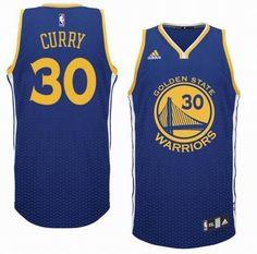 Golden State Warriors 30# Stephen Curry Resonate Fashion Swingman Jersey Royal Blue $19.5