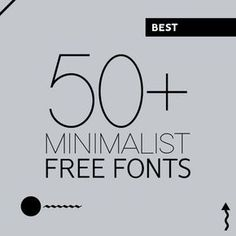 50+ Best Free Fonts for Minimalist Designs