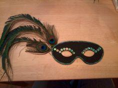 Homemade Masquerade mask for me!