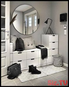 15 Nordic-Style Bedroom Ideas To Inspire you Home Entrance Decor, Entryway Decor, Small Room Bedroom, Home Decor Bedroom, Bedroom Ideas, Decor Room, Ikea Bedroom, Small Bedrooms, Dark Wood Furniture
