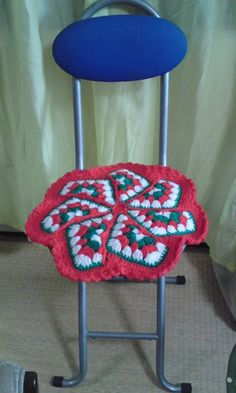 stool cover red..