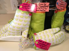 """Oven Mitt Teacher Gift: Thank You for your com""""mitt"""" ment to my learning!!!!!- so easy and cute!!! Mitts from target dollar section with a bag of treats inside!!!Could also use school supplies or BBQ accessories too!!!!!"""