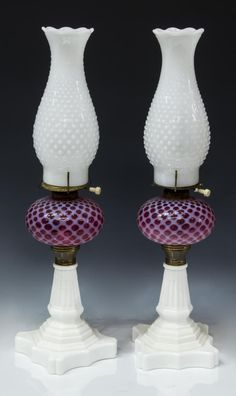 Buy online, view images and see past prices for (2) AMERICAN CRANBERRY & MILK GLASS OIL LAMPS. Invaluable is the world's largest marketplace for art, antiques, and collectibles. Hurricane Oil Lamps, When We Get Married, Antique Oil Lamps, Kerosene Lamp, Milk Glass, Interior Inspiration, Light Up, Primitive, Lanterns