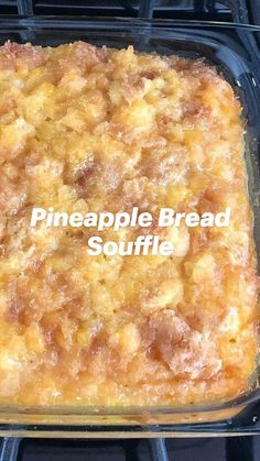 Pineapple Bread, Pineapple Dessert Recipes, Just Desserts, Delicious Desserts, Yummy Food, Spoon Bread, Desert Recipes, Puddings, Sweet Recipes