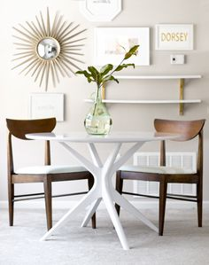 Gorgeous Mid Century Modern Table and Chairs Makeover | Before   After