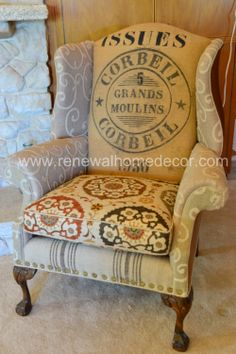 Vintage Wingback chair Stephanie's Issues by ReNewalHomeDecor, $1,400.00