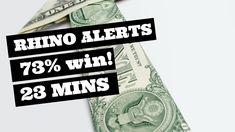 Rhino Trades 74% win in 23 mins! Earn More Money, Earn Money Online, Way To Make Money, Earn Extra Cash, Extra Money, Robinhood App, Stock Trader, Money Today, Financial Success