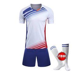 00bdcd0c9 Professional Customize Adult kids Breathable Soccer Set 2017 2018 Soccer  Jerseys Uniforms Children Football Kit Shirt Tracksuit