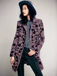 Free People Brocade Coat, $348.00  (Love the pattern detail of this coat/jacket)  Be sure to check out the back detail!