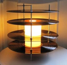 Vinyl record lamps | Recyclart
