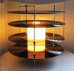 Vinyl record lamps | Recyclart