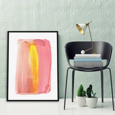 Minimalist Large Abstract Painting Interior Design Art Giclee Print Watercolor Painting by AcrylicVSWatercolor Interior Paint, Interior Design, Large Abstract Wall Art, Watercolor Paintings Abstract, Giclee Print, Design Art, Minimalist, Etsy, Home Decor