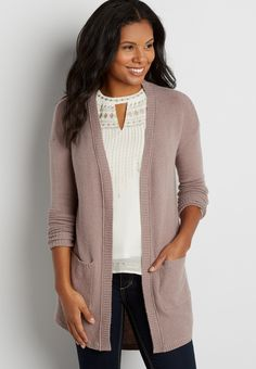 soft dolman cardigan with pockets (original price, $39.00) available at #Maurices
