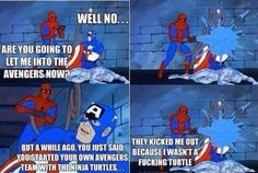Funny Memes Spidey can't catch a break. Memes Humor, Funny Shit, Funny Stuff, Freaking Hilarious, Hilarious Memes, Really Funny, Funny Cute, Funny Images, Best Funny Pictures