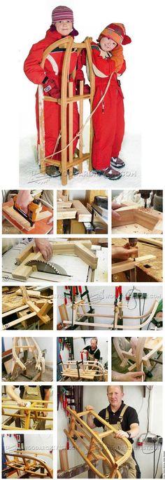 Wooden Sleigh Plans - Children's Plans and Projects | WoodArchivist.com
