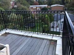 Railings and balustrades for both residential and commercial projects, including fire exit staircases. Railings, Wimbledon, Balcony, Deck, Fire, Outdoor Decor, Home Decor, Floating Stairs, Front Porch