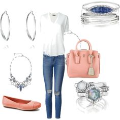 Casual look featuring meridian collection by chloe and Isabel jewelry
