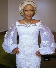 Look at these beautiful Aso Ebi styles 2019 - Dentelle diy couture Nigerian Lace Styles, African Lace Styles, African Lace Dresses, Latest African Fashion Dresses, African Print Fashion, African Style, African Wedding Attire, African Attire, African Wear
