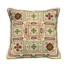 Brigantia Needlework Sparsholt Tapestry Cushion Front Kit in Quick Cross S 797734308068 Cross Stitch Kits, Cross Stitch Embroidery, Embroidery Patterns, Cross Stitch Patterns, Blackwork, Cross Stitch Geometric, Cross Stitch Cushion, Tapestry Kits, Canvas Designs