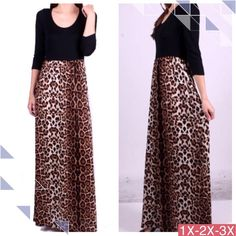 """💥HOST PICK 1/16💥ANIMAL PRINT MAXI DRESS! Sold out of this one quickly and wanted to restock when I found it!  Fits very well.                   ♦️1X: bust 39.5""""♦️3X: bust 43.5""""                                    Rayon & spandex. Made in USA🇺🇸 NWOT tla2 Dresses Maxi"""