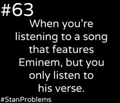Haha! Yes, so often!!, such as Numb ,writers block No love and Drop the World