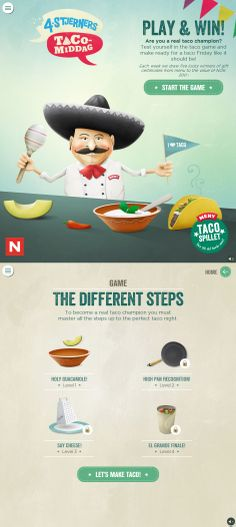 Unique Web Design, The Taco Game #webdesign #design (http://www.pinterest.com/aldenchong/)