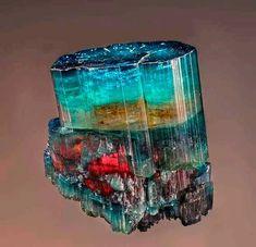 Marvelous Multi-colors Tourmaline from Sapo Mine, Ferruginha, Conselheiro Pena, Doce valley, Minas Gerais, Brazil.